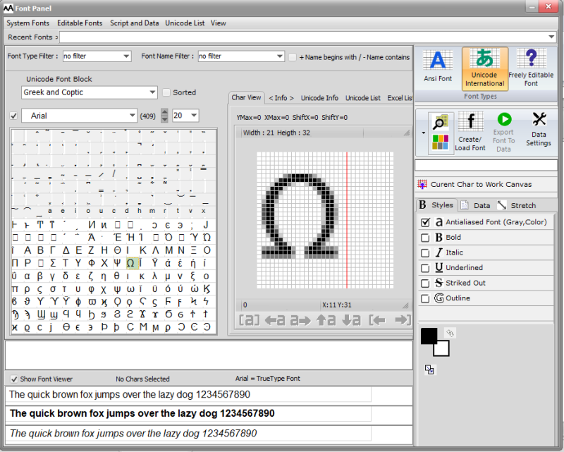 Bitmap2LCD for GLCD :: Homepage :: Convert Images - Create fonts