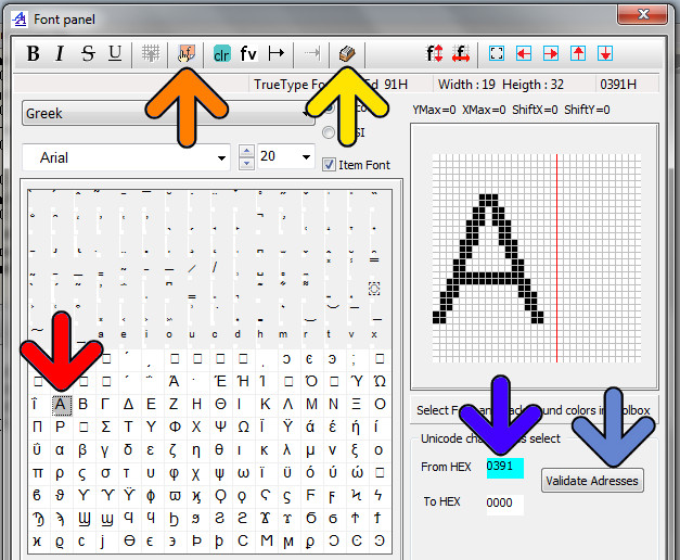 Unicode Font | Bitmap2LCD Software Tool Blog :: about GLCD
