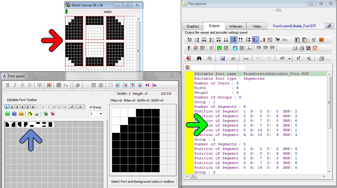 GLCD Font Editor | Bitmap2LCD Software Tool Blog :: about GLCD