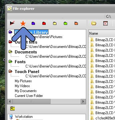 Bitmap2lcd Project Folders