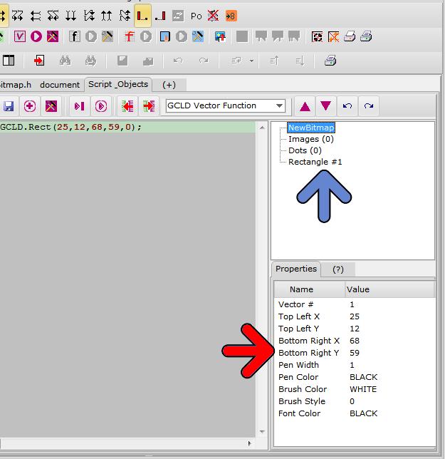 bitmap2lcd Vector Paramaters