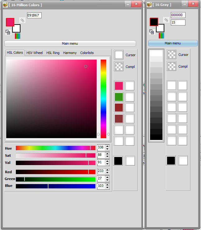 bitmap2lcd Color Picker