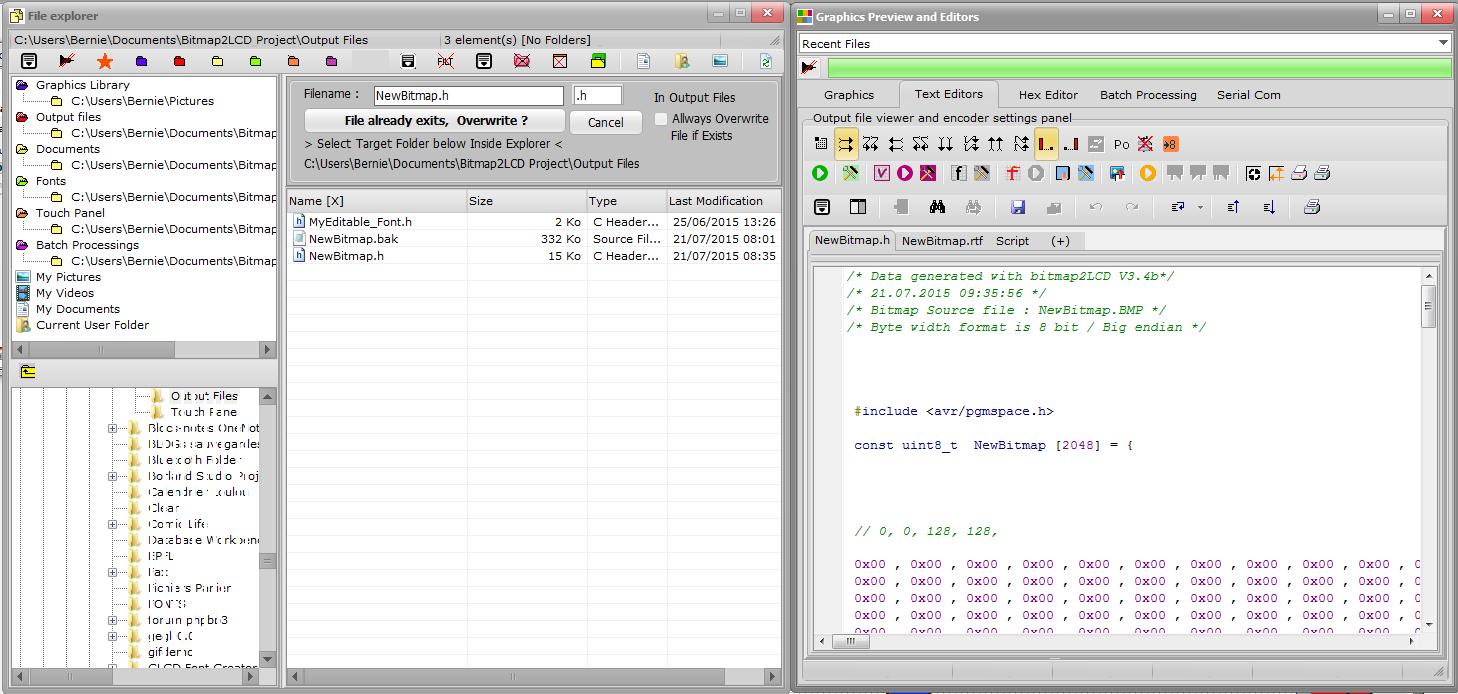 bitmap2lcd output file