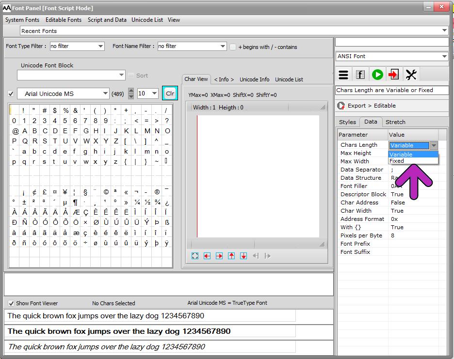bitmap2lcd-font-parameters